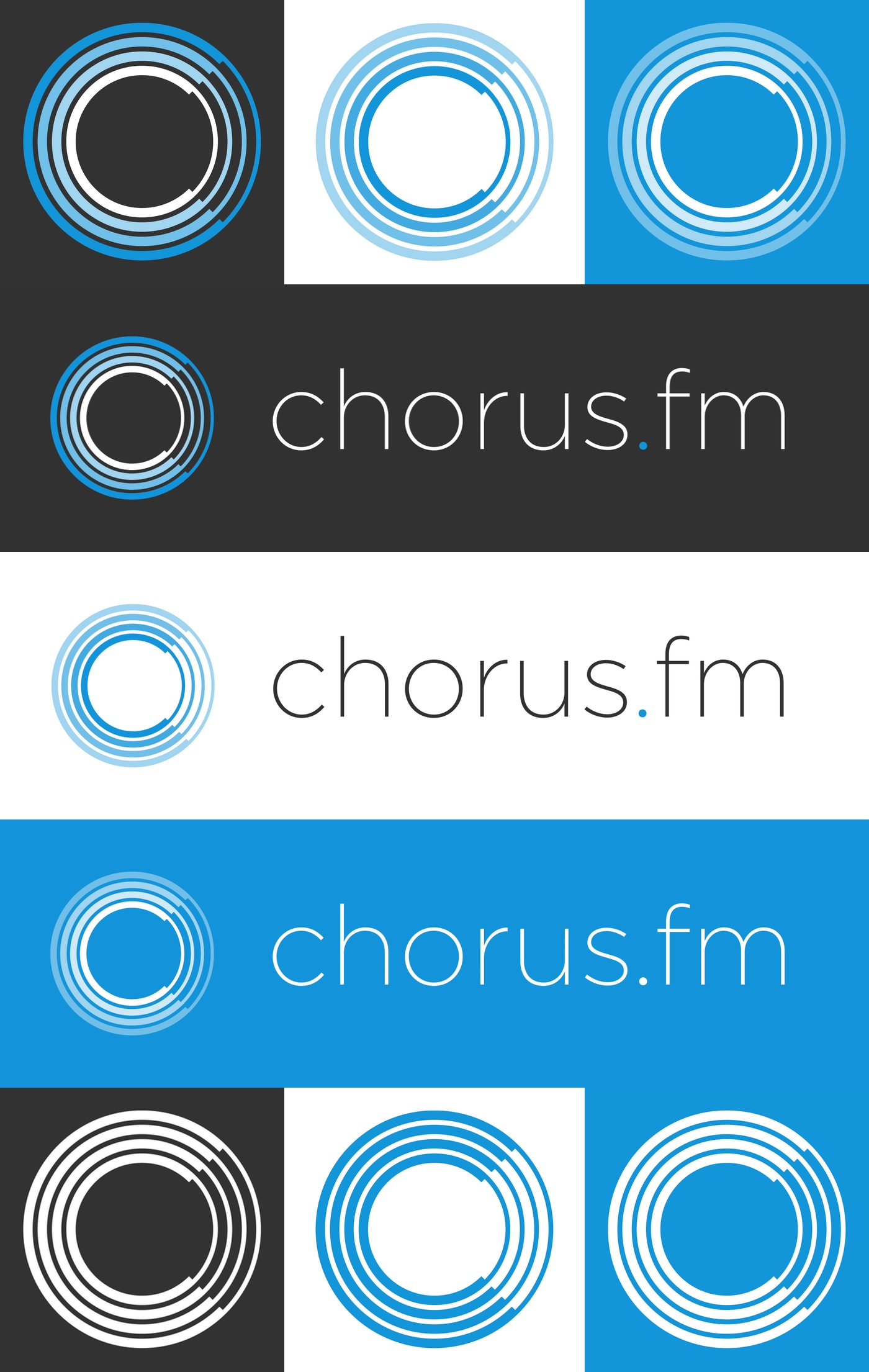 New Chorus Logo Collage